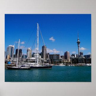 オークランド港、ニュージーランド-ポスター プリント