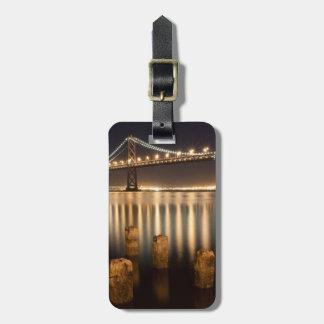 オークランド湾橋夜反射 ラゲッジタグ