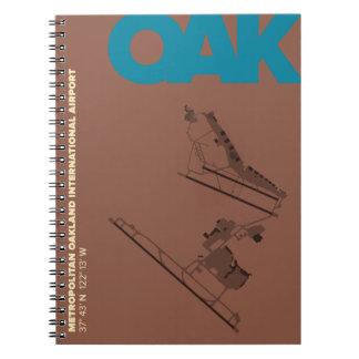 オークランド空港 (OAK)図表のノート ノートブック