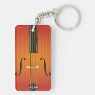 オーケストラの長方形両面のKeychain キーホルダー