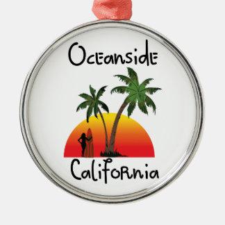 オーシャンサイドカリフォルニア メタルオーナメント
