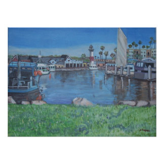 オーシャンサイド港、カリフォルニア ポスター