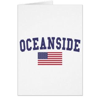 オーシャンサイド米国の旗 カード