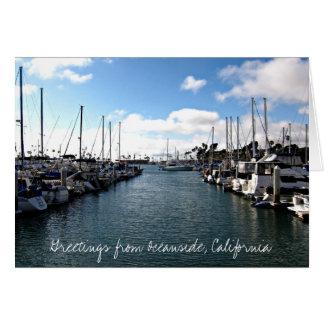 オーシャンサイド、カリフォルニアからの挨拶 カード