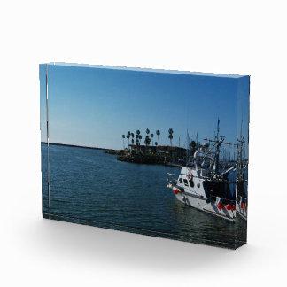 オーシャンサイド、カリフォルニアのアクリルの写真のブロックのボート 表彰盾