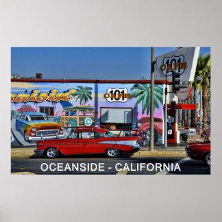 オーシャンサイド、カリフォルニアのカフェ101 ポスター