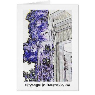 オーシャンサイド、カリフォルニアの都市景観 カード