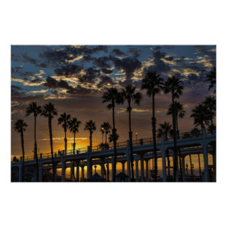 オーシャンサイド、カリフォルニアポスター ポスター