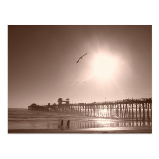 オーシャンサイド、カリフォルニア桟橋 ポストカード