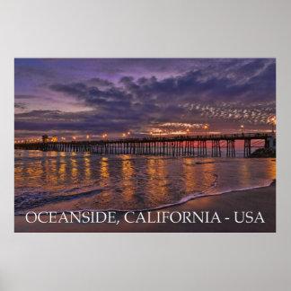 オーシャンサイド、カリフォルニア ポスター