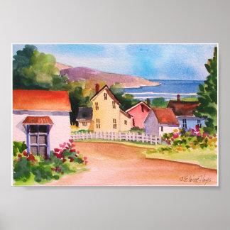 オーシャンビューの村の家 ポスター