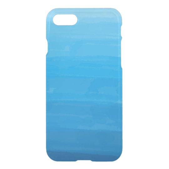 オーシャンブルーのグラデーションで澄んなiPhoneの場合 iPhone 7ケース