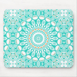 オーシャンブルーのターコイズの円形浮彫り マウスパッド
