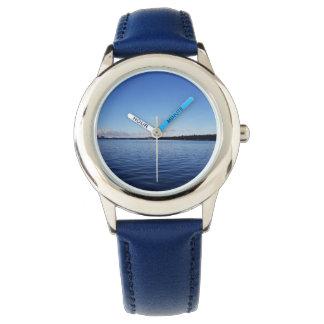 オーシャンブルーの腕時計 腕時計