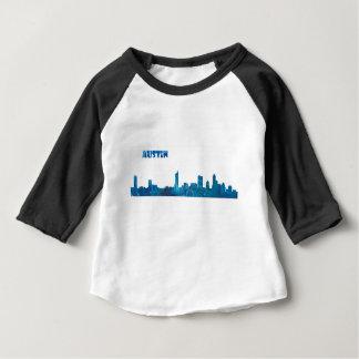 オースティンのスカイラインのシルエット ベビーTシャツ