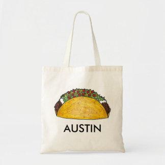 オースティンのテキサス州のタコスのタコスのメキシコ食糧戦闘状況表示板 トートバッグ
