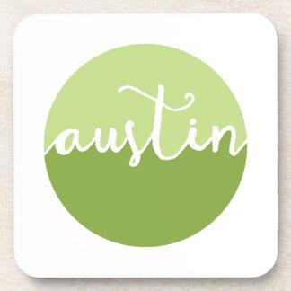 オースティンのテキサス州|の緑のグラデーションな円 コースター