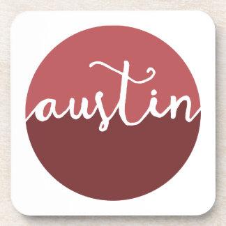 オースティンのテキサス州|の錆のグラデーションな円 コースター