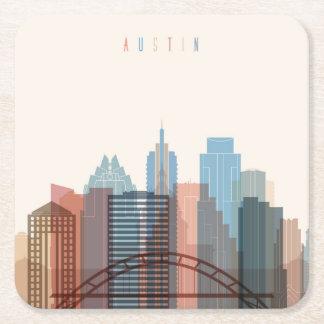 オースティンのテキサス州|都市スカイライン スクエアペーパーコースター