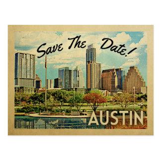 オースティンの保存日付テキサス州 ポストカード