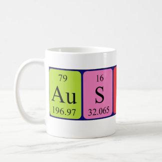 オースティンの周期表の名前のマグ コーヒーマグカップ