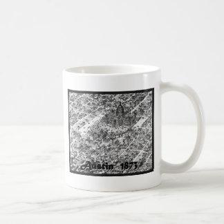 オースティンの歴史的な地図1873年 コーヒーマグカップ