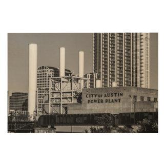 オースティンの発電所の都市 ウッドウォールアート