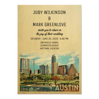 オースティンの結婚式招待状テキサス州 カード