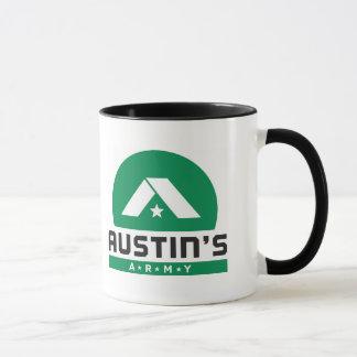 オースティンの軍隊の黒の信号器のロゴのマグ マグカップ