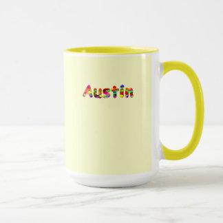 オースティンの黄色いコーヒー・マグ マグカップ