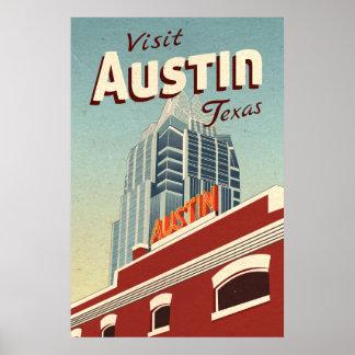オースティンテキサス州のヴィンテージ旅行ポスター ポスター