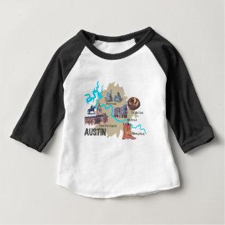 オースティンテキサス州の地図 ベビーTシャツ