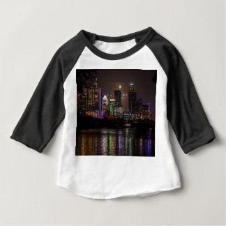 オースティンテキサス州の満月 ベビーTシャツ