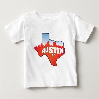 オースティンテキサス州の都市景観 ベビーTシャツ