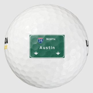 オースティンテキサス州のtxの州間幹線道路の高速道路の道: ゴルフボール
