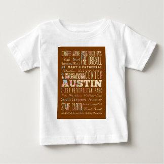 オースティン、テキサスの魅力及び有名な場所 ベビーTシャツ