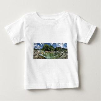 オースティン、テキサス州のバートンの入り江の平たい箱 ベビーTシャツ
