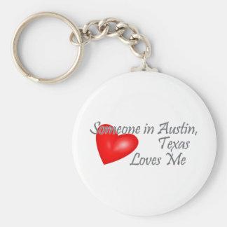 オースティン、テキサス州の誰かは私を愛します キーホルダー