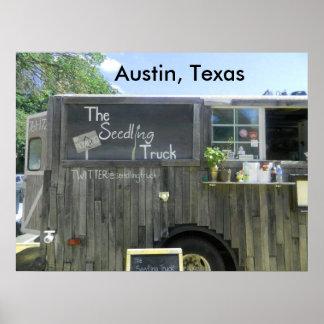 オースティン、テキサス州の食糧トラック プリント
