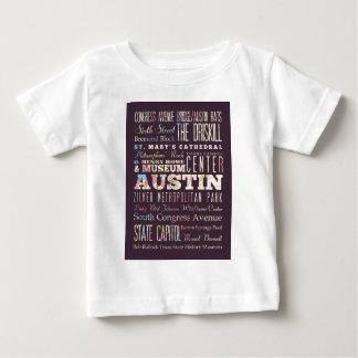 オースティン、テキサス州の魅力そして有名な場所 ベビーTシャツ