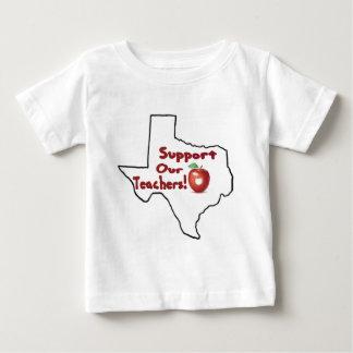 オースティン-私達の先生を支えて下さい! ベビーTシャツ