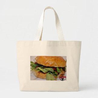 オースティンEATINのハンバーガーのトートバックを保って下さい ラージトートバッグ