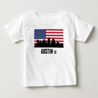 オースティンTXの米国旗 ベビーTシャツ