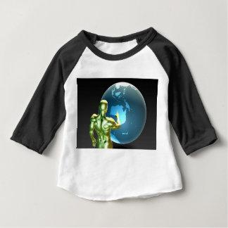 オーストラリアかニュージーランドで指しているビジネスマン ベビーTシャツ