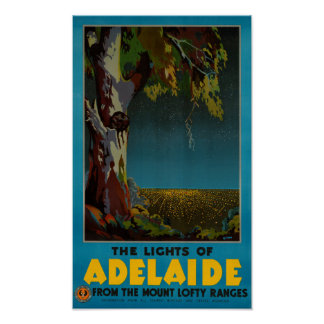 オーストラリアのアデレードによって元通りにされるヴィンテージ旅行ポスター ポスター
