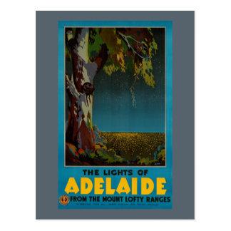 オーストラリアのアデレードによって元通りにされるヴィンテージ旅行ポスター ポストカード