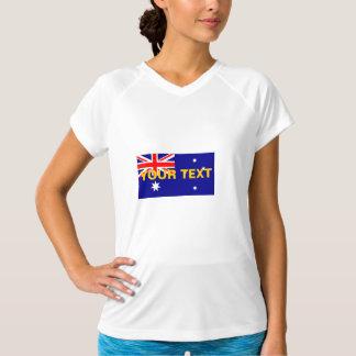 オーストラリアのカスタムな旗 Tシャツ