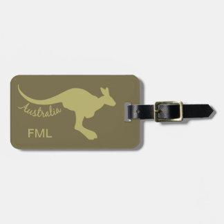 オーストラリアのカンガルーのカスタムな荷物のラベル ラゲッジタグ