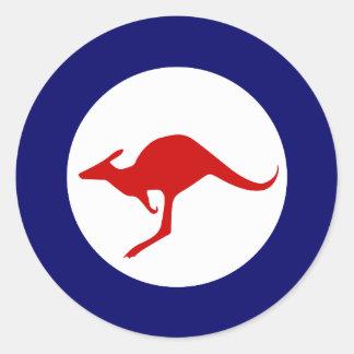 オーストラリアのカンガルーの軍の航空roundel ラウンドシール