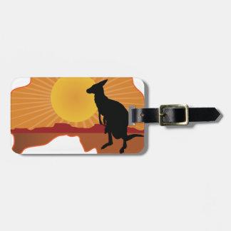 オーストラリアのカンガルー ラゲッジタグ